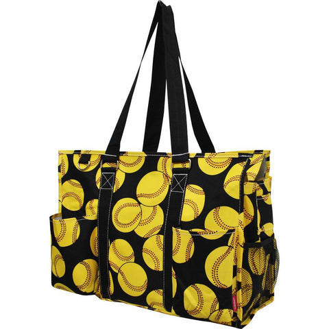 Softball NGIL Zippered Caddy Large Organizer Tote Bag
