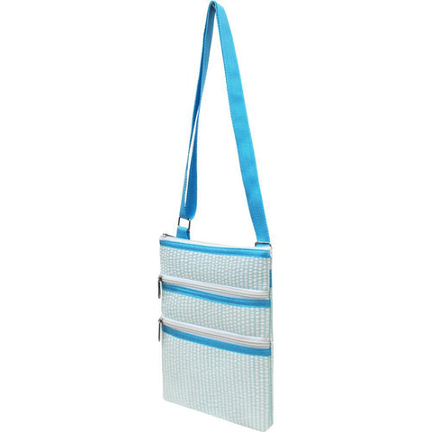 SALE ! Seersucker Aqua NGIL Messenger Bag