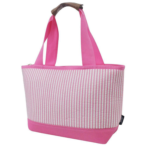 Seersucker Pink NGIL Insulated Lunch Bag