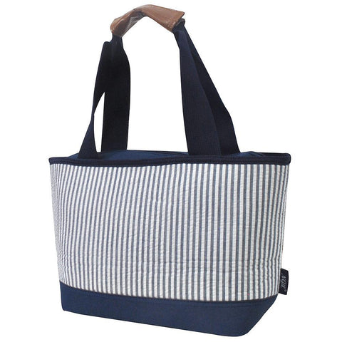 Seersucker Navy NGIL Insulated Lunch Bag