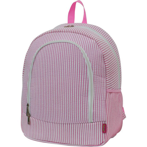 seersucker baby backpack, pink seersucker backpack, personalized seersucker backpack, monogrammed seersucker backpack, seersucker small backpack, seersucker monogram backpack, seersucker collection backpack,
