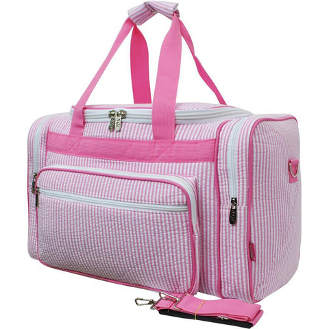 Training duffel bag, coach duffle bag, traveling duffle, monogram gift ideas, monogram gifts for women, monogram bags cheap, personalized duffle bags cheap, personalized duffle bag baby, personalized graduation gifts for her, pink seersucker duffel bag, pink duffel bag.