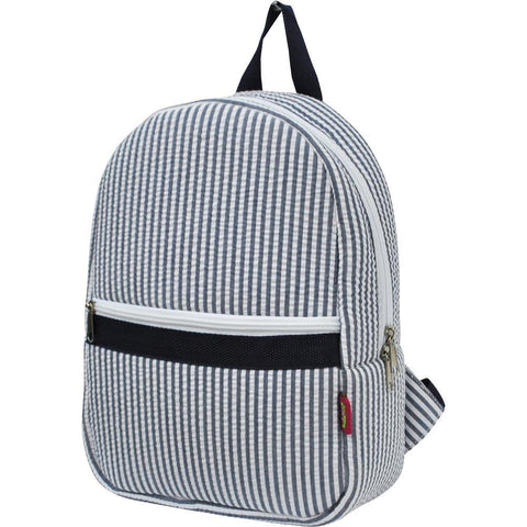 Seersucker Navy NGIL Small Backpack