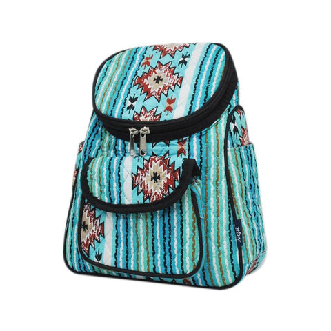 Southern Aqua Serape NGIL Quilted Mini Backpack