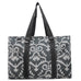 Damask Print NGIL Zippered Caddy Large Organizer Tote Bag