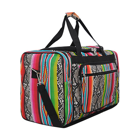 "Snake Skin with Serape NGIL Canvas 20"" Duffle Bag"