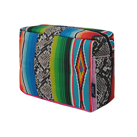 Snake Skin with Serape NGIL Large Cosmetic Travel Pouch