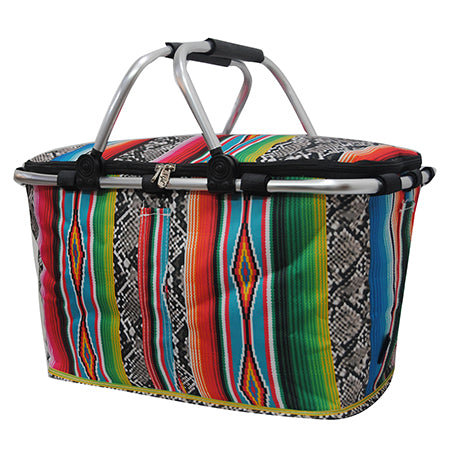 Snake Skin with Serape NGIL Insulated Market Basket