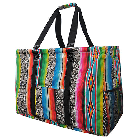 Snake Skin with Serape NGIL Mega Shopping Utility Tote Bag