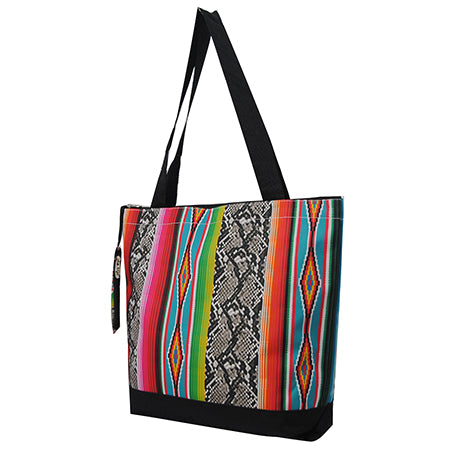 Snake Skin with Serape NGIL Canvas Tote Bag