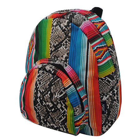 Snake Skin with Serape NGIL Canvas Mini Backpack