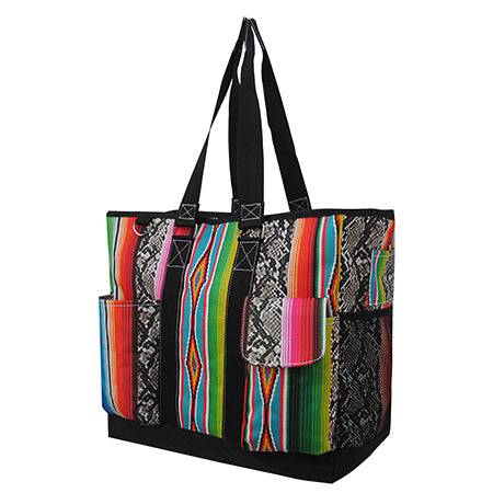 Snake Skin with Serape NGIL Tall Canvas Tote Bag