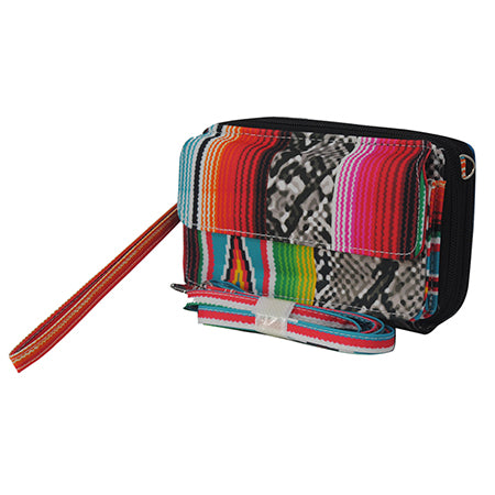 Snake Skin with Serape NGIL Canvas All In One Wallet