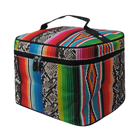 Snake Skin with Serape NGIL Large Top Handle Cosmetic Case