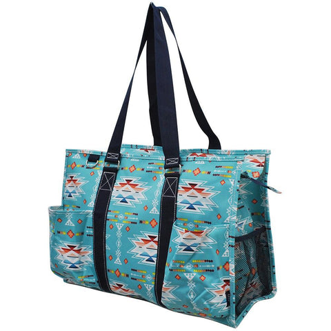 Southern Aztec & Serape NGIL Zippered Caddy Large Organizer Tote Bag