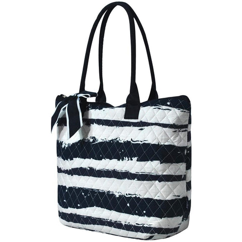 Sand Stripe NGIL Quilted Tote Bag