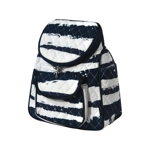 Sand Stripe NGIL Quilted Mini Backpack