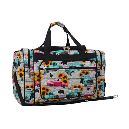 "Sunflower Southern Vintage Truck NGIL Canvas 20"" Duffle Bag"