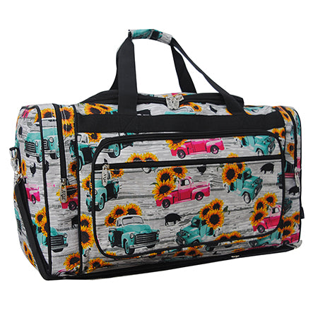 "Sunflower Southern Vintage Truck NGIL Canvas 23"" Duffle Bag"