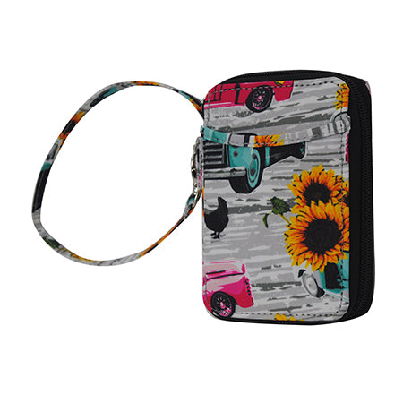 Sunflower Southern Vintage Truck NGIL Canvas Wristlet Wallet