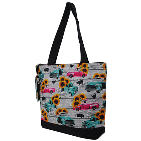 Sunflower Southern Vintage Truck NGIL Canvas Tote Bag