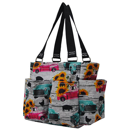 Sunflower Southern Vintage Truck NGIL Small Utility Tote