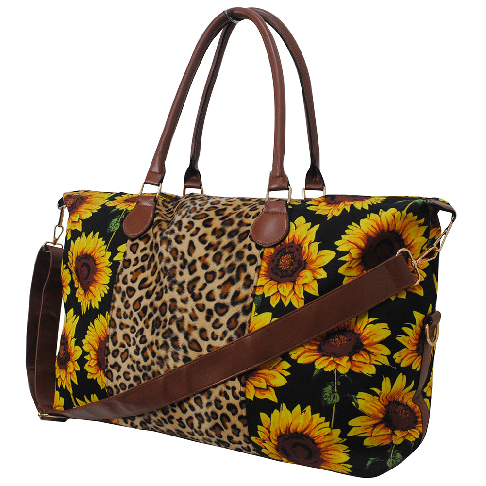 Sunflower Faux Fur Weekender Bag