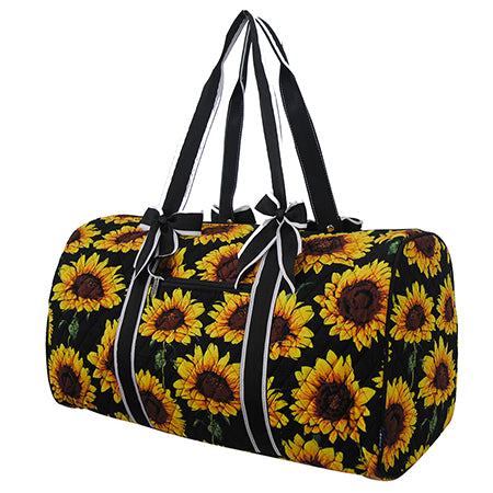 Sunflower NGIL Quilted Large Duffle Bag