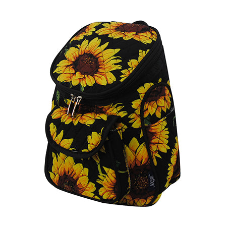 Sunflower Quilted Mini Backpack