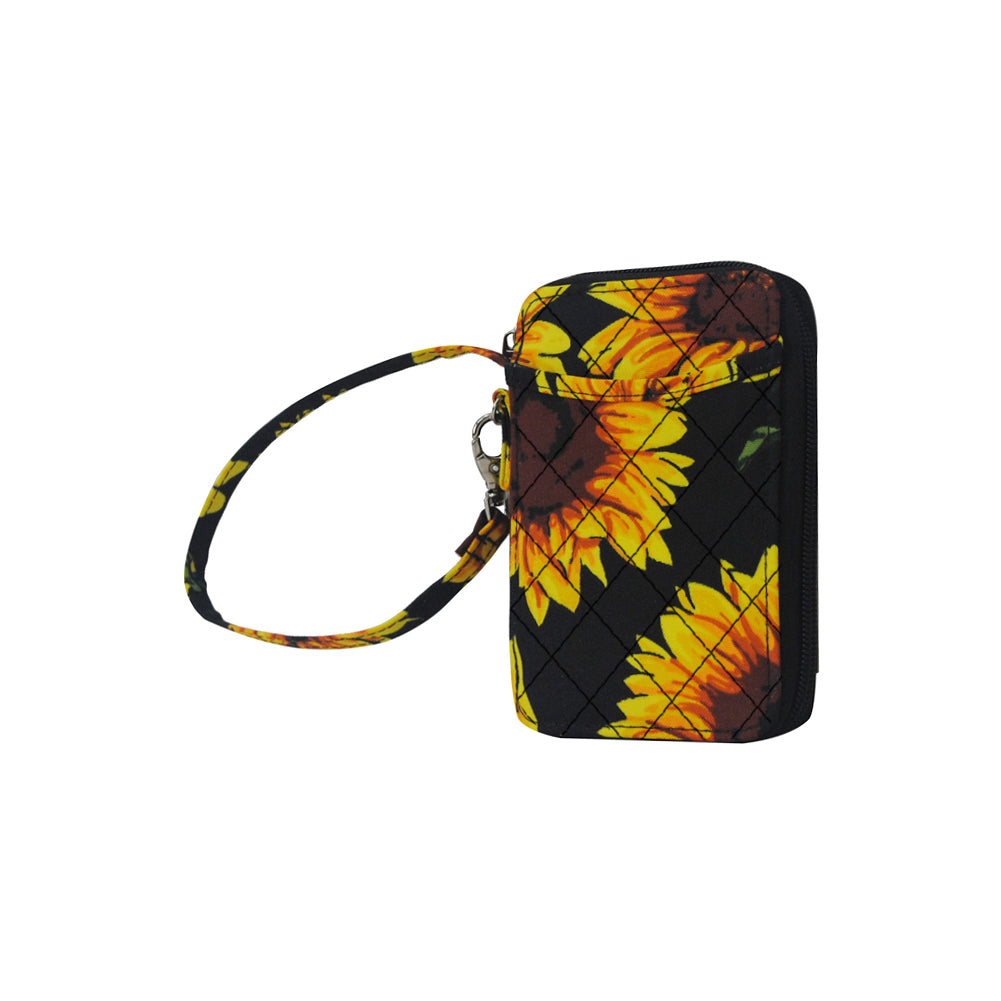 Sunflower NGIL Quilted Wristlet Wallet
