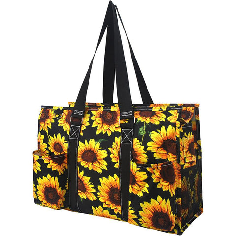 Sunflower NGIL Zippered Caddy Large Organizer Tote Bag