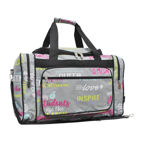 "Inspiring Teacher NGIL Canvas 20"" Duffle Bag"