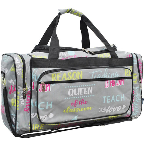 "Inspiring Teacher NGIL Canvas 23"" Duffle Bag"