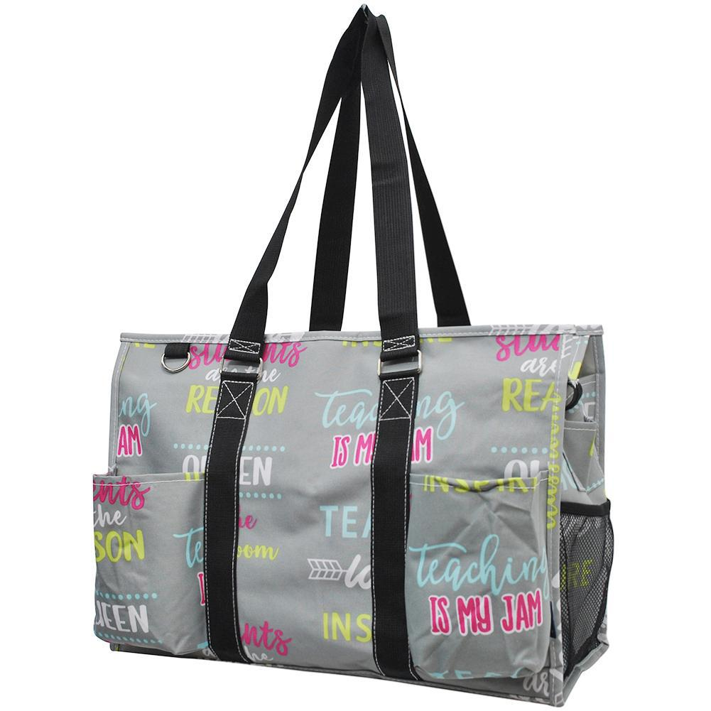 Zippered Caddy, monogramable bags, personalized tote teacher, personalized tote bag for her, teacher tote bag with zipper, Student teacher tote bag, student teacher bag, nurse bags and accessories, student nurse gift bags.