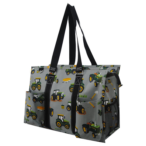 Tractor Trucks NGIL Zippered Caddy Large Organizer Tote Bag