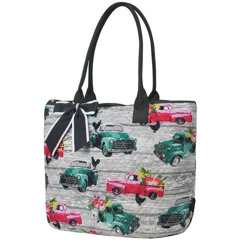 Southern Vintage Truck NGIL Quilted Tote Bag