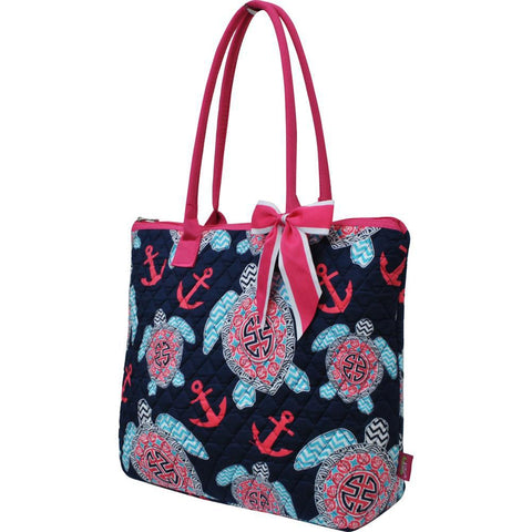 Ocean Sea Turtle Anchor NGIL Quilted Tote Bag