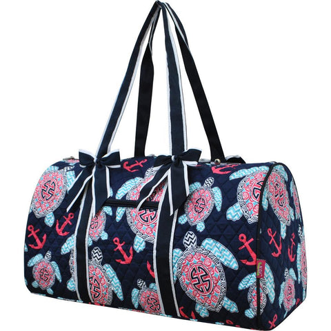 Ocean Sea Turtle Anchor NGIL Quilted Large Duffle Bag