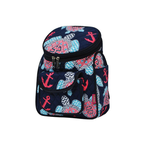 Ocean Sea Turtle Anchor NGIL Quilted Mini Backpack