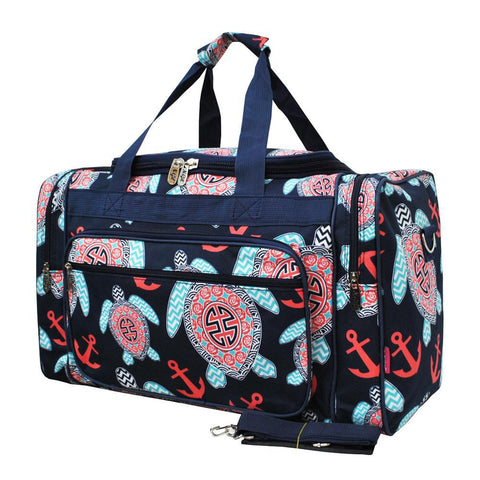 "Ocean Sea Turtle Anchor NGIL Canvas 20"" Duffle Bag"
