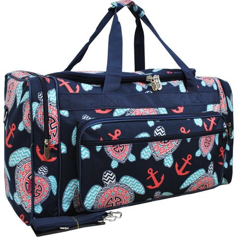 "Ocean Sea Turtle Anchor NGIL Canvas 23"" Duffle Bag"