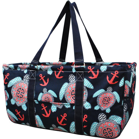 Monogram gift basket, NGIL, monogram tote bag canvas, personalized basket, teacher gift for classroom, sea turtle tote bag, ocean animal tote bag, sea turtle anchor bags,