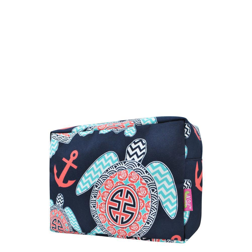 Ocean Sea Turtle Anchor NGIL Large Cosmetic Travel Pouch