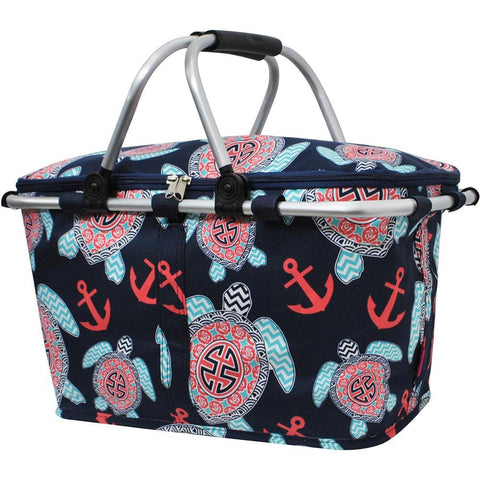 Ocean Sea Turtle Anchor NGIL Insulated Market Basket