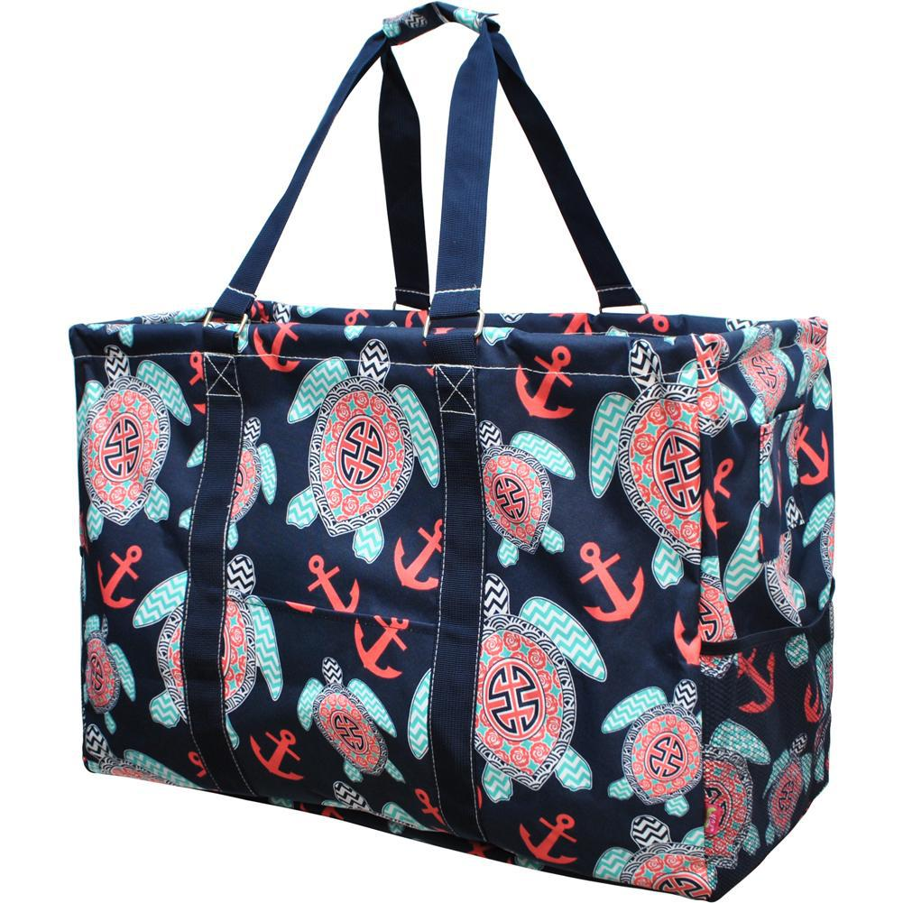 Ocean Sea Turtle Anchor NGIL Mega Shopping Utility Tote Bag
