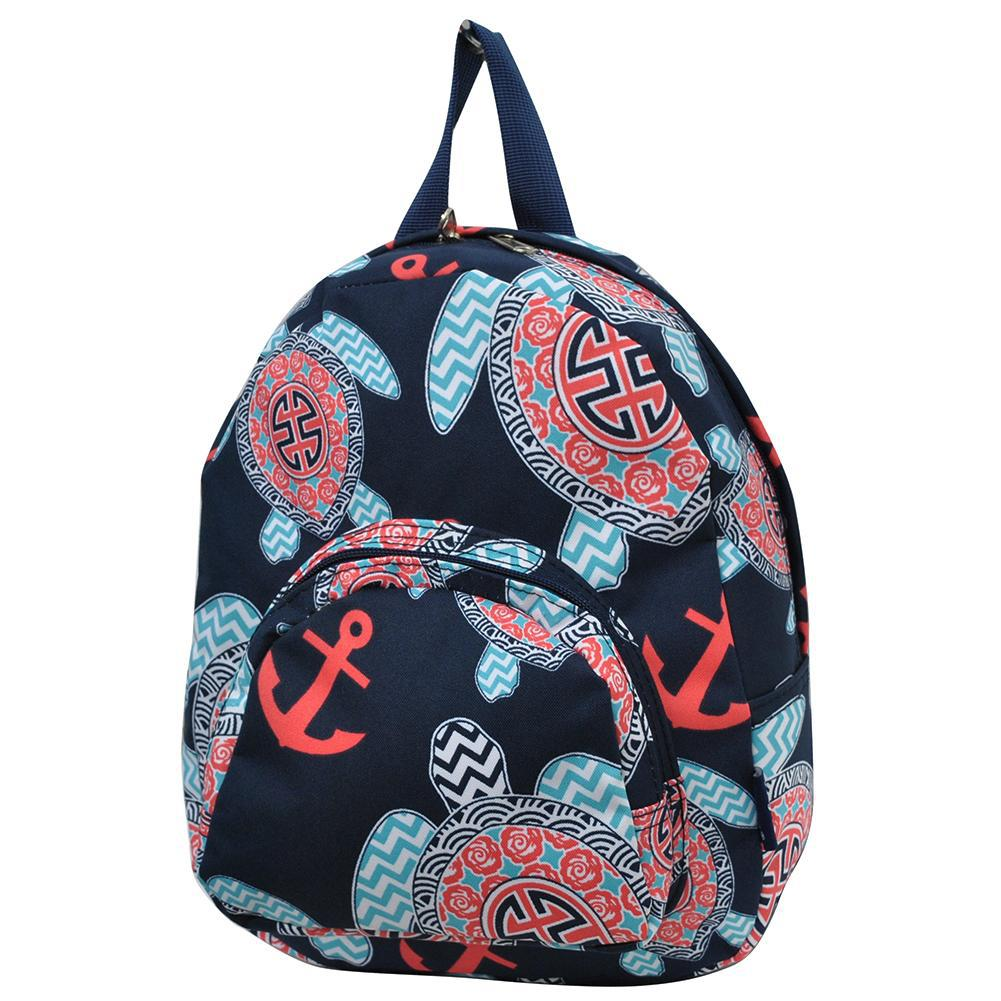 Ocean Sea Turtle Anchor NGIL Canvas Mini Backpack