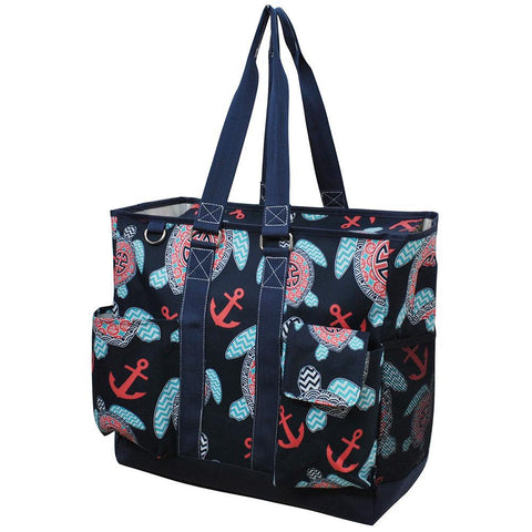 Ocean Sea Turtle Anchor NGIL Tall Canvas Tote Bag