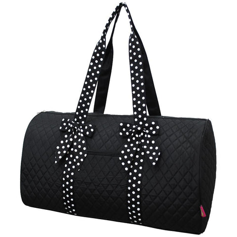 Black and White NGIL Quilted Large Duffle Bag