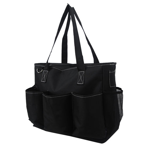 Solid Color Black NGIL Large Utility Caddy Tote