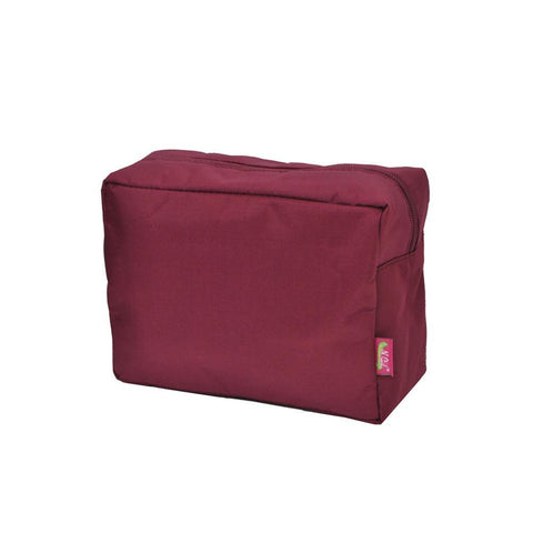 Cosmetic bags in bulk, best women's makeup bag, makeup pouch for school, makeup bag gifts for women, makeup organizer case, cosmetic bag for bride, travel bags gift, burgundy cosmetic cases